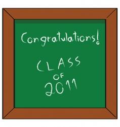 congratulations class of 2011 vector image