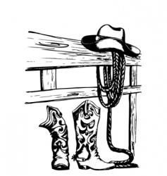 Cowboy gear vector