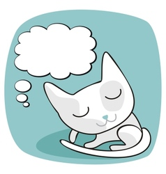 Cute Cat Thoughts vector image