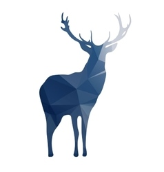 Deer silhouette of geometric shapes vector image