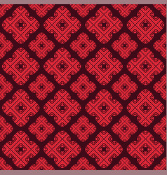 floral geometry seamless pattern vector image