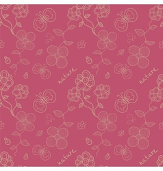Floral stylized seamless pattern vector image vector image