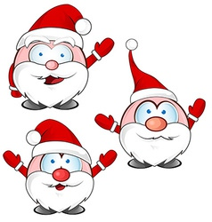 funny santa claus cartoon vector image