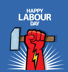 Happy labour day label vector