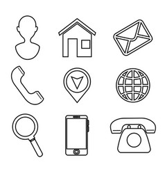 home office business elements vector image