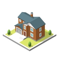 isometric buildingt Flat style vector image vector image