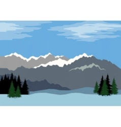 Landscape mountains low poly vector