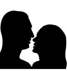 man and woman preparing for a kiss vector image vector image
