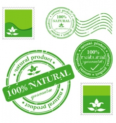natural product stamp vector image vector image