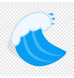 Ocean wave isometric icon vector