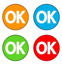 Ok buttons set vector