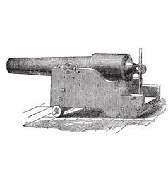 Parrott cannon vintage engraving vector image