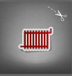 Radiator sign red icon with for applique vector