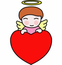 valentine angel vector image vector image