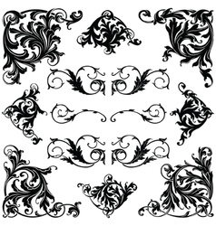 Victorian ornament vector