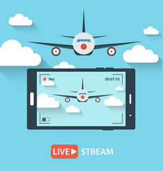 Video streaming on mobile phone vector