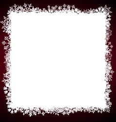 Winter Square Frame with Snowflakes vector image vector image