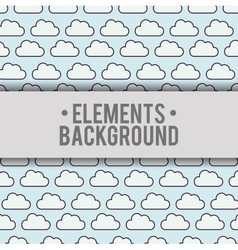 Clouds background elements design vector