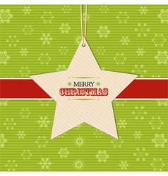 Christmas star label background vector