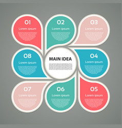 Business concept with 8 options parts steps vector