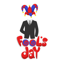 colorful first april fools day concept vector image