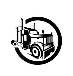 printtruck cargo container trailer vector image