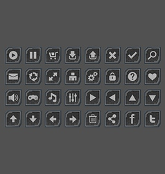 Interface buttons set for space games vector