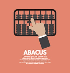 Abacus a traditional counting frame vector