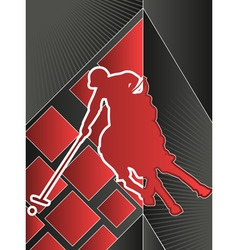 Sport poster series polo vector
