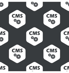 Black hexagon cms settings pattern vector