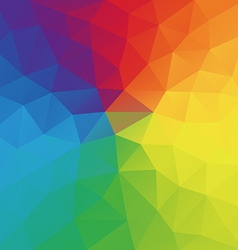 Color wheel abstract geometric rumpled triangular vector