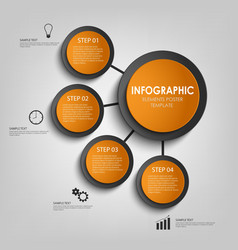 Info graphic with orange and black design circles vector