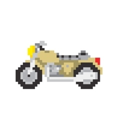 Road motorbike in pixel art style isolated vector