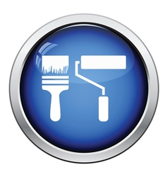 Icon of construction paint brushes vector
