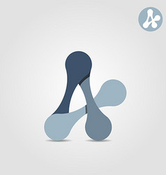 A letter abstract shape connection concept vector image vector image