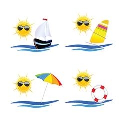 Beach icon art vector