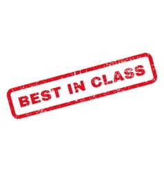 Best in class text rubber stamp vector