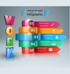 Business infographics work icon vector