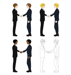 Business Two Men Hand Shake vector image vector image