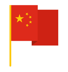 Chinese national flag icon isolated vector