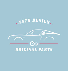 Classic label car vector