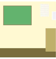 Classroom with chalckboard flat vector