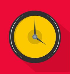 clock deadline icon flat style vector image