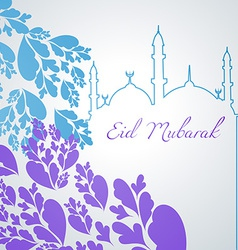 Colorful eid mubarak design vector