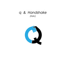 Creative q- letter icon abstract logo design vector