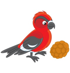 crossbill vector image vector image
