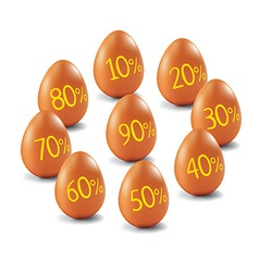 Eggs with discount percents vector image