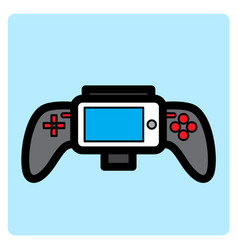Flat color gamepad icon vector