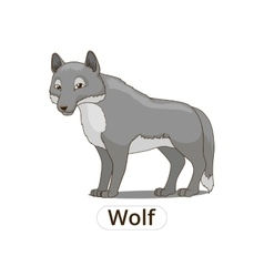 Forest animal wolf cartoon vector image vector image