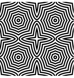 geometric black and white seamless pattern vector image
